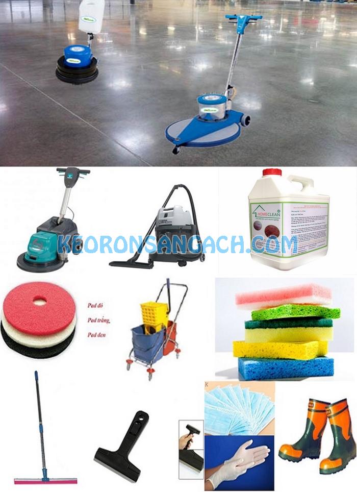 Bộ dụng cụ phủ bóng sàn gồm những gì?